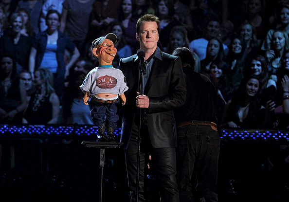 Jeff Dunham performs at the American Country Awards 2010