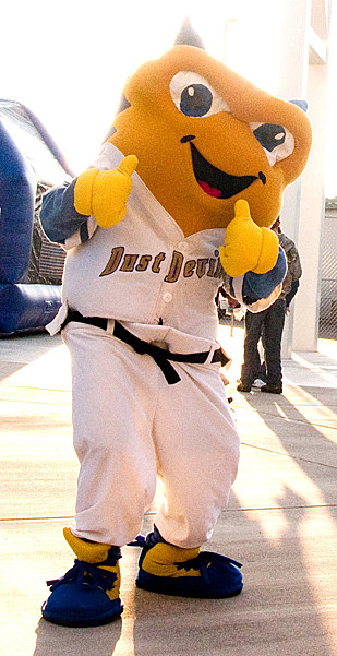 Tri-City Dust Devils Mascot, Dusty