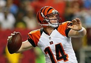 Andy Dalton #14 of the Cincinnati Bengals