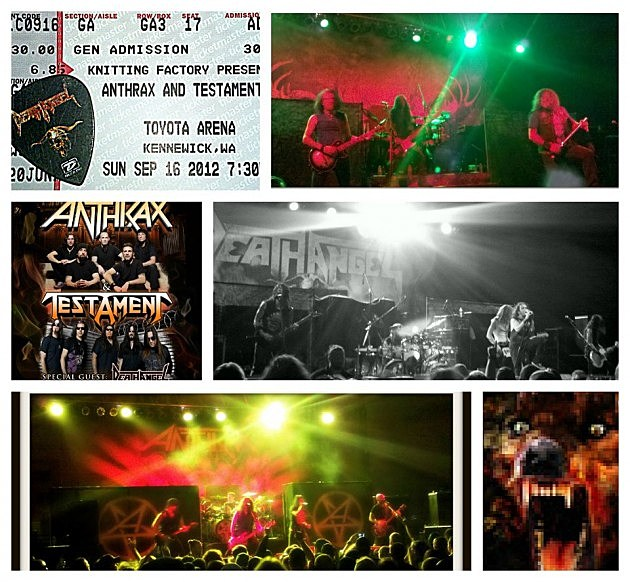 Anthrax, Testament, Death Angel Collage from Stacy Bustamante