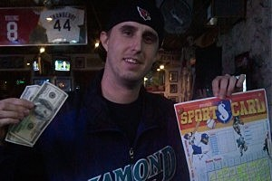 Jordan Knight - 97 Rock Monday Night Football Winner at Jack-sons in Kennewick