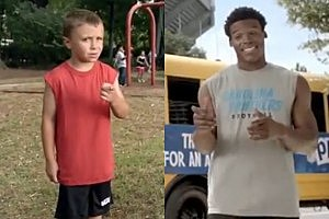 NFL Play 60 Kid and Cam Newton