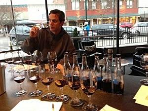 Drew Working Hard Wine Tasting