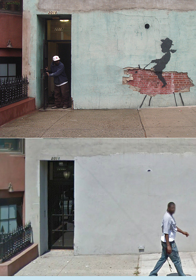 "Banksy ""Bronco Boy"" removed from New York city wall"