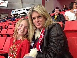 Supermodel Rachel Hunter at the Tri-City Americans vs the Spokane Chiefs game March 28th, 2013