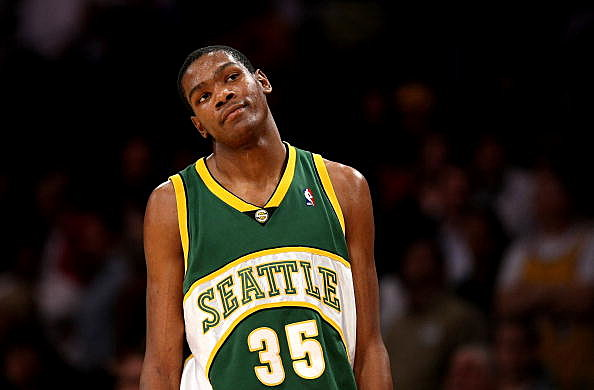 Kevin Durant #35 of the Seattle SuperSonics