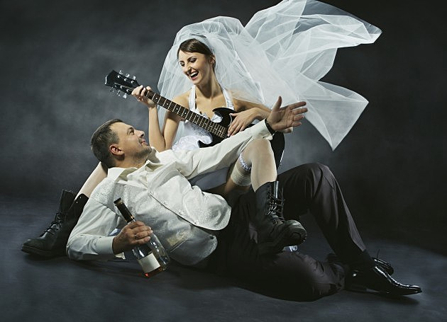 rock and roll bride wedding