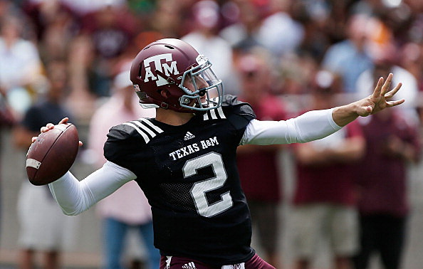 Texas A&M Aggies quarterback Johnny Manziel #2