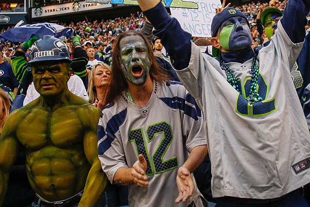 SeaHulk and Seattle Seahawk Fans