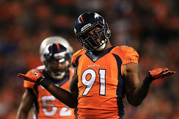Robert Ayers #91 of the Denver Broncos
