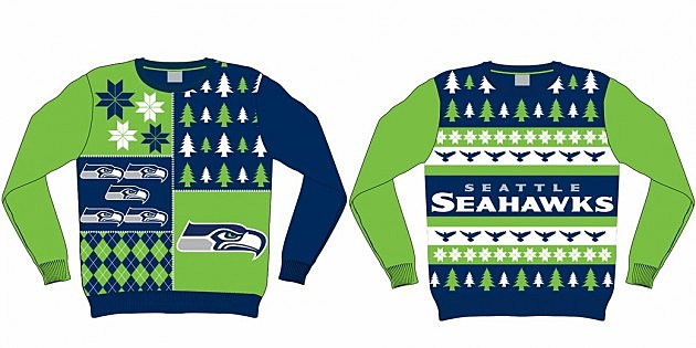 nfl ugly christmas sweaters are hideously awesome - Seahawks Christmas Sweater