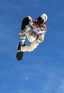 Sage Kotsenburg of the United States competes in the Snowboard Men's Slopestyle Final