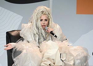 Musician Lady Gaga speaks at the 2014 SXSW Music, Film + Interactive Festival