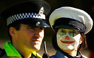Militant Clowns Demonstrate At Faslane Nuclear Base