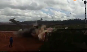 YouTube Russian Helicopter Live Fire