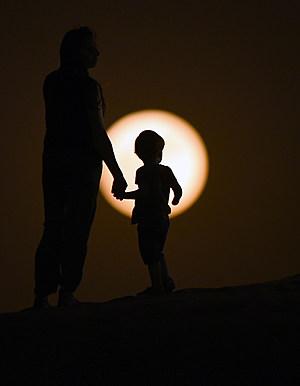 Super Moon Rises Over Dubai